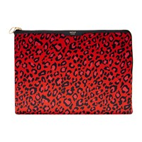Wouf Red Leopard Satin Laptop Case 13