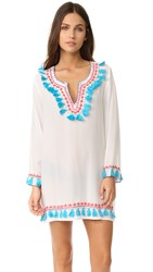 Bindya Boho Tassels Long Sleeve Tunic White