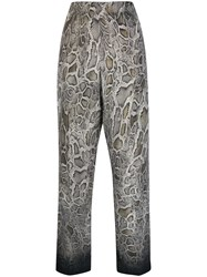 Cambio Snakeskin Print Trousers Grey
