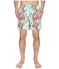 Vilebrequin Moorea Coral And Fish Swim Trunk Teal Red