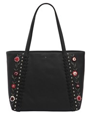 Kate Spade Cherie Floral Appliques Leather Tote Bag