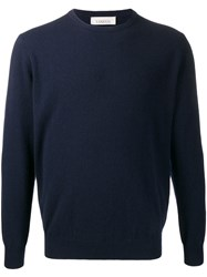 Laneus Round Neck Jumper Blue