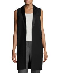 Lafayette 148 New York Edie Long Vest Black