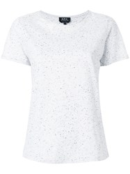 A.P.C. Speckle Finish T Shirt Grey