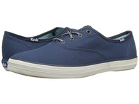 Keds Champion Seasonal Solid Dark Teal Women's Lace Up Casual Shoes Blue