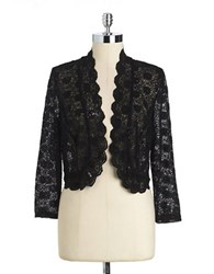 Marina Lace And Sequin Bolero Black