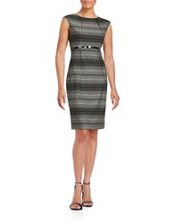 Calvin Klein Belted Sheath Dress Charcoal Black
