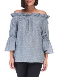 B Collection By Bobeau Martha Chambray Blouse