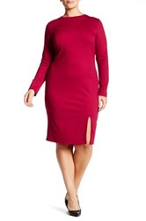 Vanity Room Ponte Bodycon Dress Plus Size Red