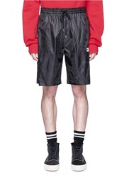 Public School 'Youth' Slogan Print Shorts Black