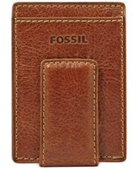 Fossil Bradley Magnetic Multicard Front Pocket Wallet Tan