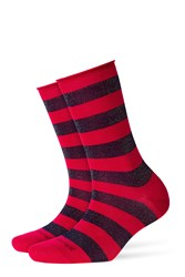 Burlington Metallic Striped Socks Multicolor