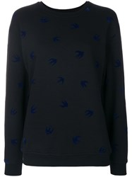 Mcq By Alexander Mcqueen Micro Swallow Sweatshirt Cotton S Black