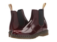 Dr. Martens 2976 Vegan Chelsea Boot Cherry Red Cambridge Brush Lace Up Boots Tan