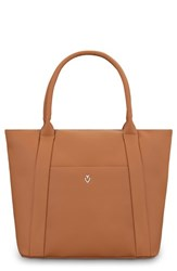 Vessel Signature 2.0 Faux Leather Medium Tote Brown Pebbled Tan