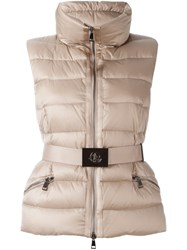 Moncler 'Tareg' Padded Gilet Nude And Neutrals