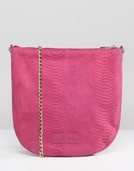 Urbancode Real Leather Cross Body Bag Tropical Bright Pink