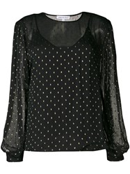 Lily And Lionel Metallic Livia Blouse Black