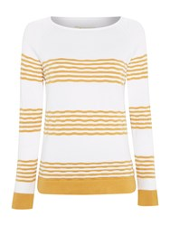 Barbour Headland Stripe Knit Jumper Gold