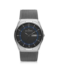 Skagen Melbye Gray And Blue Titanium Men's Watch