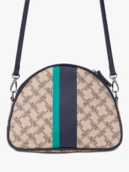French Connection Alexia Monogram Curve Cross Body Bag Sand Multi