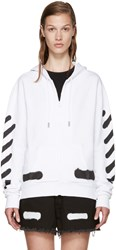 Off White White Spray Paint Hoodie