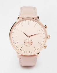 New Look Oversized Face Leather Watch Nude