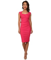 Stop Staring Love Sweetheart Neckline Dress W Bow Back Detail Hot Pink Women's Dress