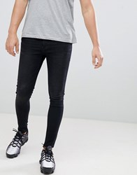 11 Degrees Super Skinny Jeans In Washed Black