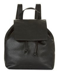 Jaeger Martha Leather Backpack Black
