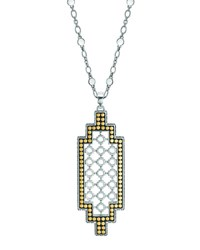 John Hardy Dot Gold And Silver Geometric Pendant Necklace