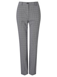 Gardeur Kayla Check Trousers Blue