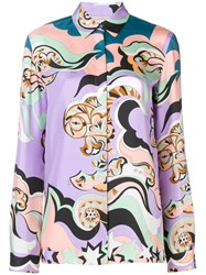 Emilio Pucci Printed Shirt Pink And Purple