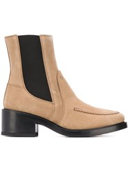 Tod's Block Heel Ankle Boots Neutrals