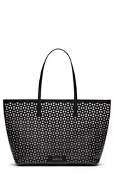 Elizabeth And James 'Daily' Leather Tote Black Black Wine