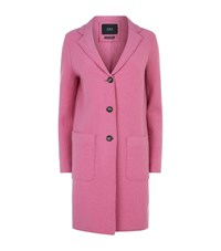 Set Double Face Wool Coat Pink