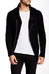 Autumn Cashmere Motorcycle Jacket Black