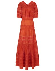 Morv Burnt Orange Chiffon Katrina Dress