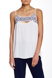 Green Dragon Embroidered Tank White
