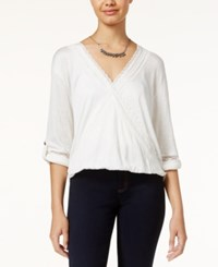 American Rag Lace Trim High Low Surplice Top Only At Macy's