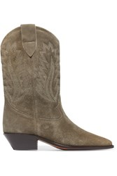 Isabel Marant Etoile Dallin Suede Boots Taupe