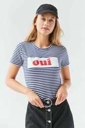 Truly Madly Deeply Striped French Tee Blue