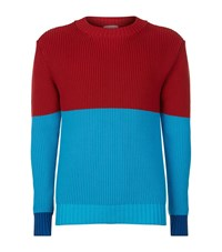 J.W.Anderson Colour Block Chunky Knit Jumper Male Multi