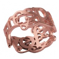 Eina Ahluwalia Love And Respect Ring Rose Goldrose Gold Plated 19