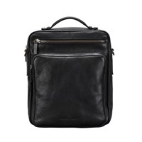 Maxwell Scott Bags S Black Large Leather Backpack With Strap