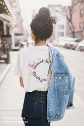 Urban Outfitters Somewhere Some Day Flower Tee White