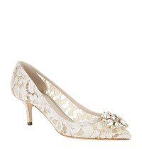 Dolce And Gabbana Rosa Embellished Lace Pump Female White