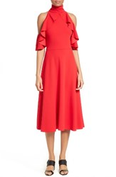 Tracy Reese Women's Midi Dress Cherry