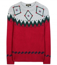 Loro Piana Wetterhorn Knitted Cashmere Sweater Red