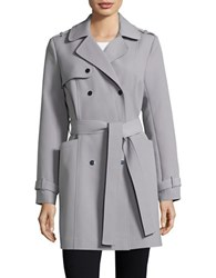 Kenneth Cole Double Breasted Trench Coat Grey